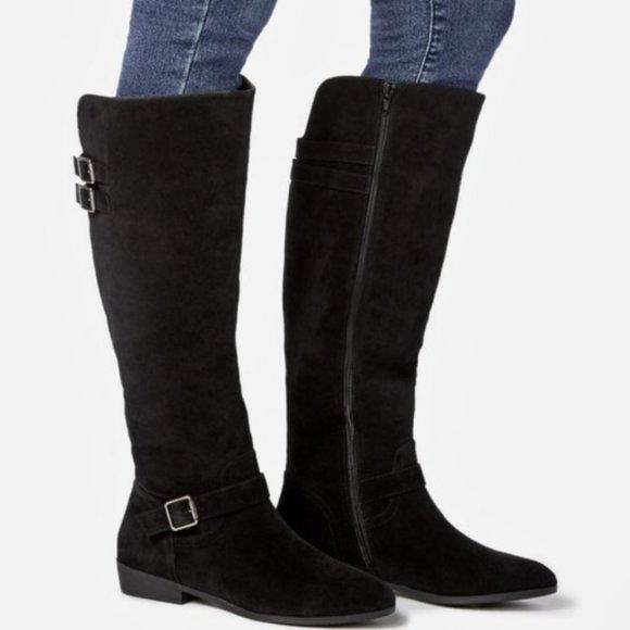 JustFab Lorana  faux leather tall flat boot